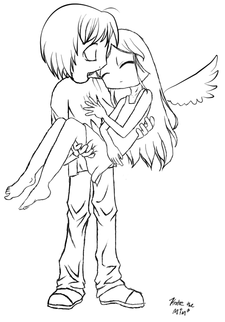 745x1064 Anime Angel Coloring Pages