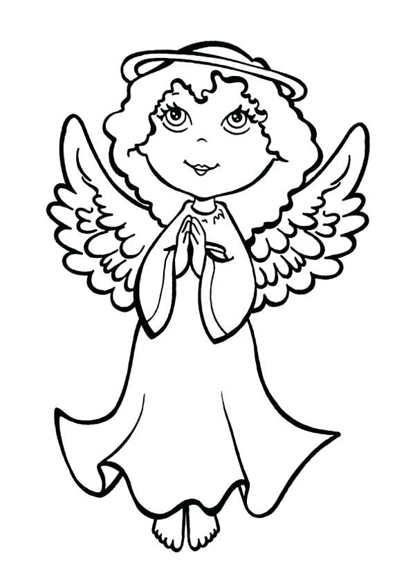 600x849 Anime Angel Coloring Pages Dark Angel Colog Pages