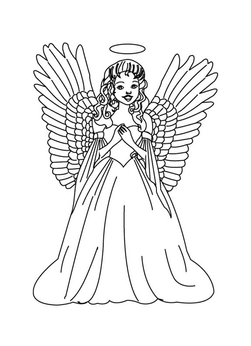 800x1100 Astonishing Mary And The Angel Coloring Page For Printable Concept