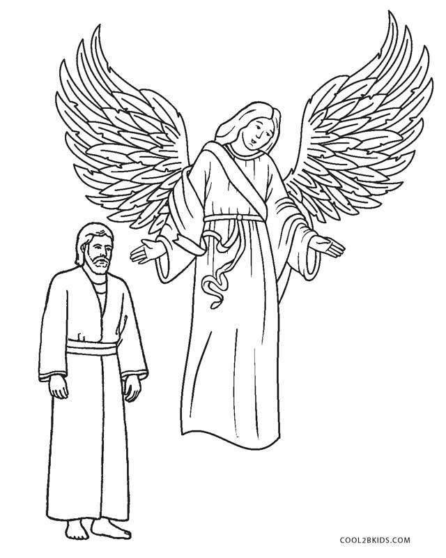 640x800 Free Printable Angel Coloring Pages For Kids