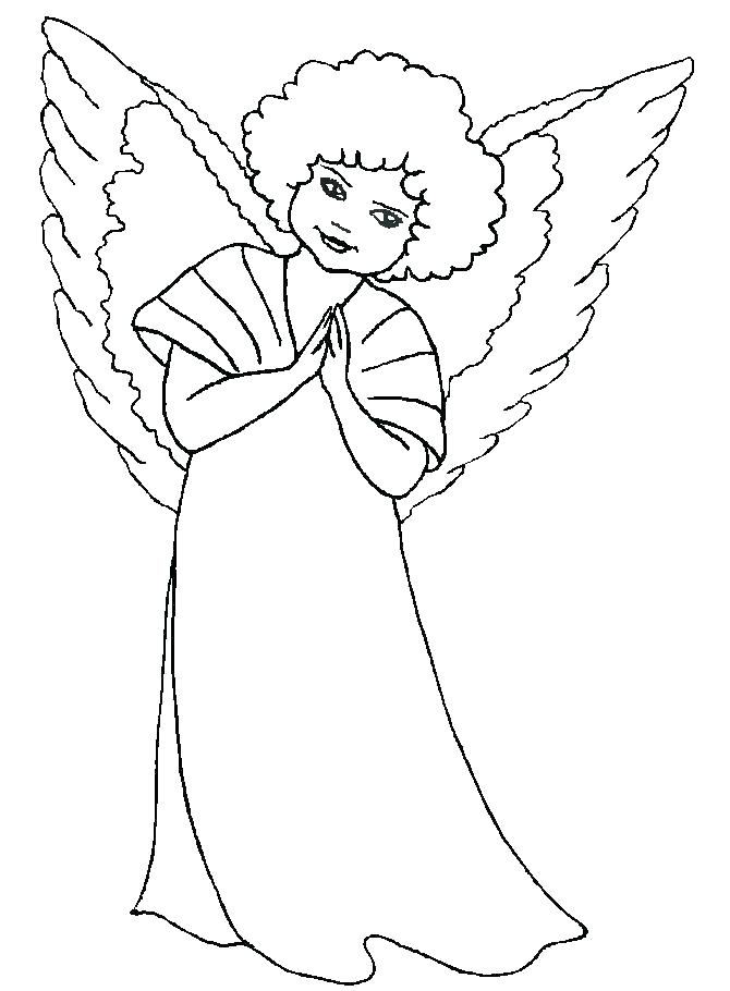 670x910 Guardian Angel Coloring Pages Male Warrior Angel Coloring Page