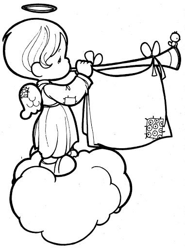 381x512 Musical Angel Coloring Page Bible School Precious