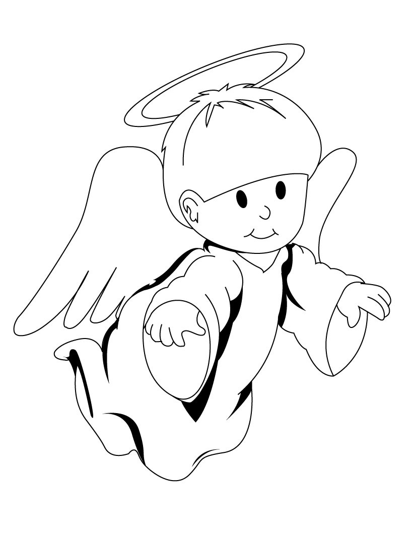 820x1060 Plush Design Ideas Angel Coloring Pages Free Page