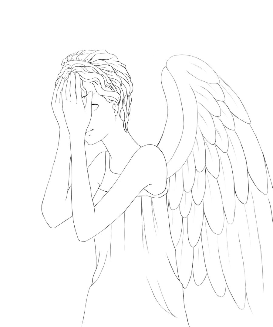 900x1080 Sampler Weeping Angel Coloring Page Pix For Angels Pages Things