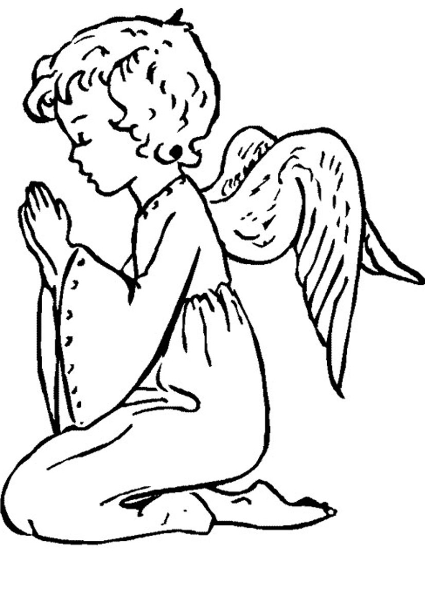 826x1169 To Angel Coloring Page For Your Pages Online Male Color Kids Free