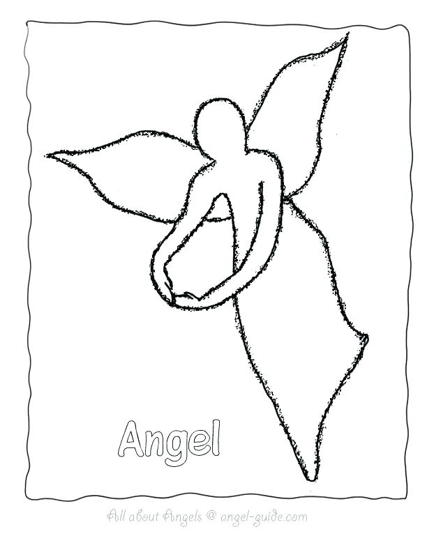 612x792 Angel Pictures To Color