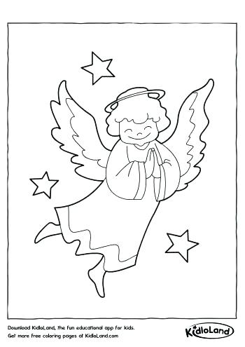 350x495 Angel Coloring Pages For Preschool Angel Ring Pages Printable Male