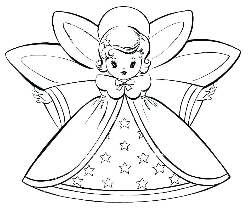948x795 Angel Coloring Pages For Preschool Angels Coloring Pages Free