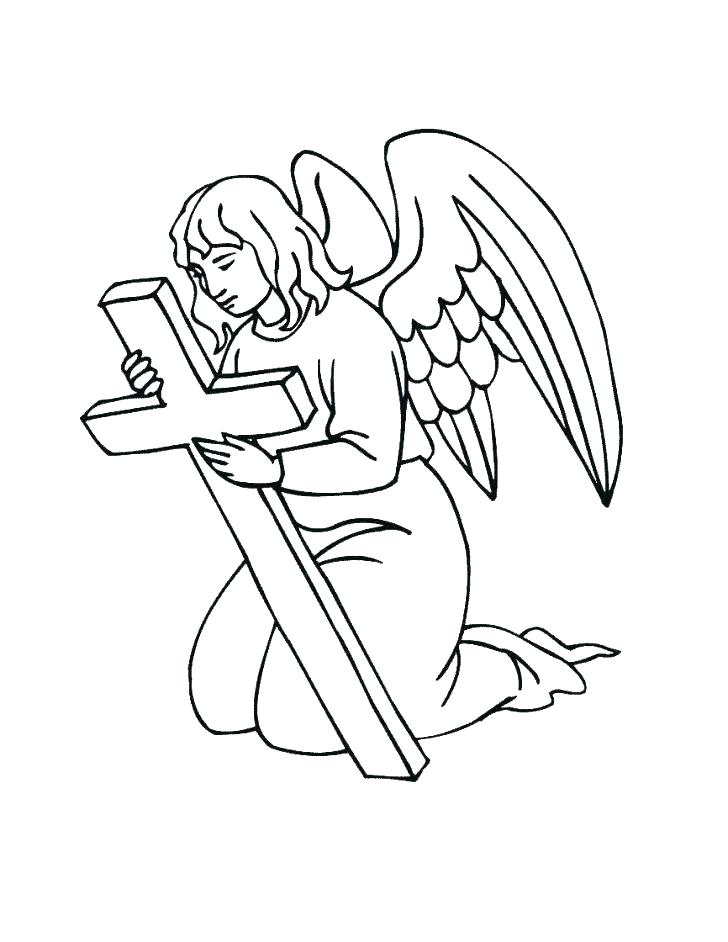 728x942 Angel Coloring Pages For Preschool Angels Coloring Pages Print
