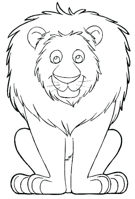 432x637 Coloring Pages Of A Lion Male Lion Coloring Page Lion Head