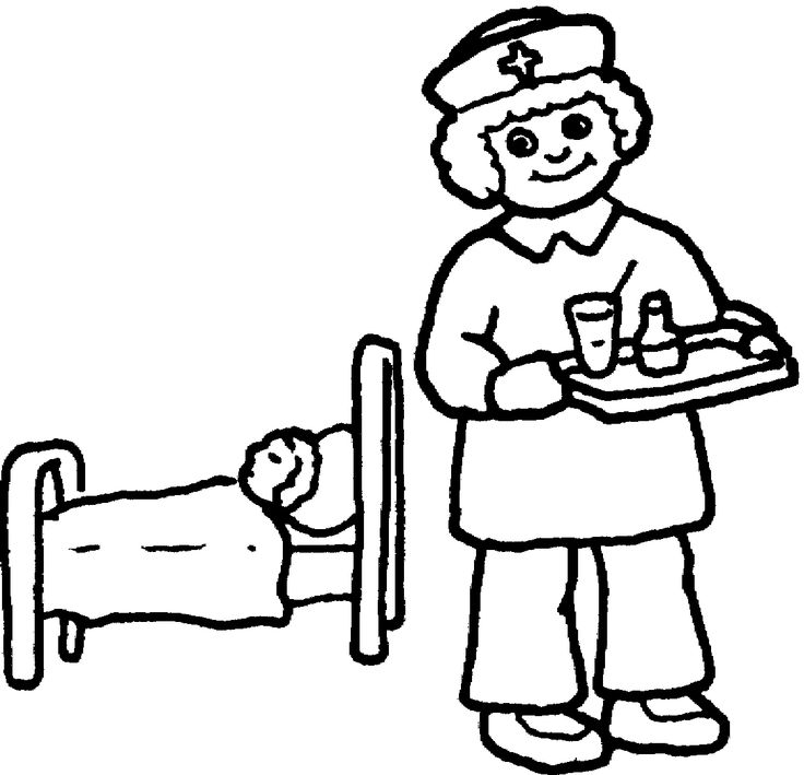 Male Nurse Coloring Pages