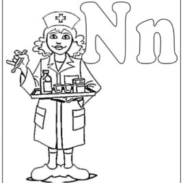 268x268 Nurse Coloring Pages