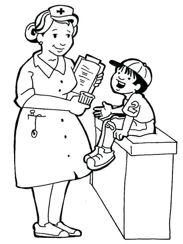600x800 Nurse Coloring Pages Coloring Pages Nurse Infant Infant Coloring