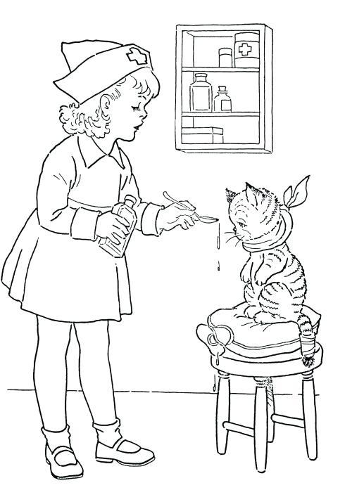 500x697 Nurse Coloring Page Male Nurse Coloring Pages Nurse Coloring Pages