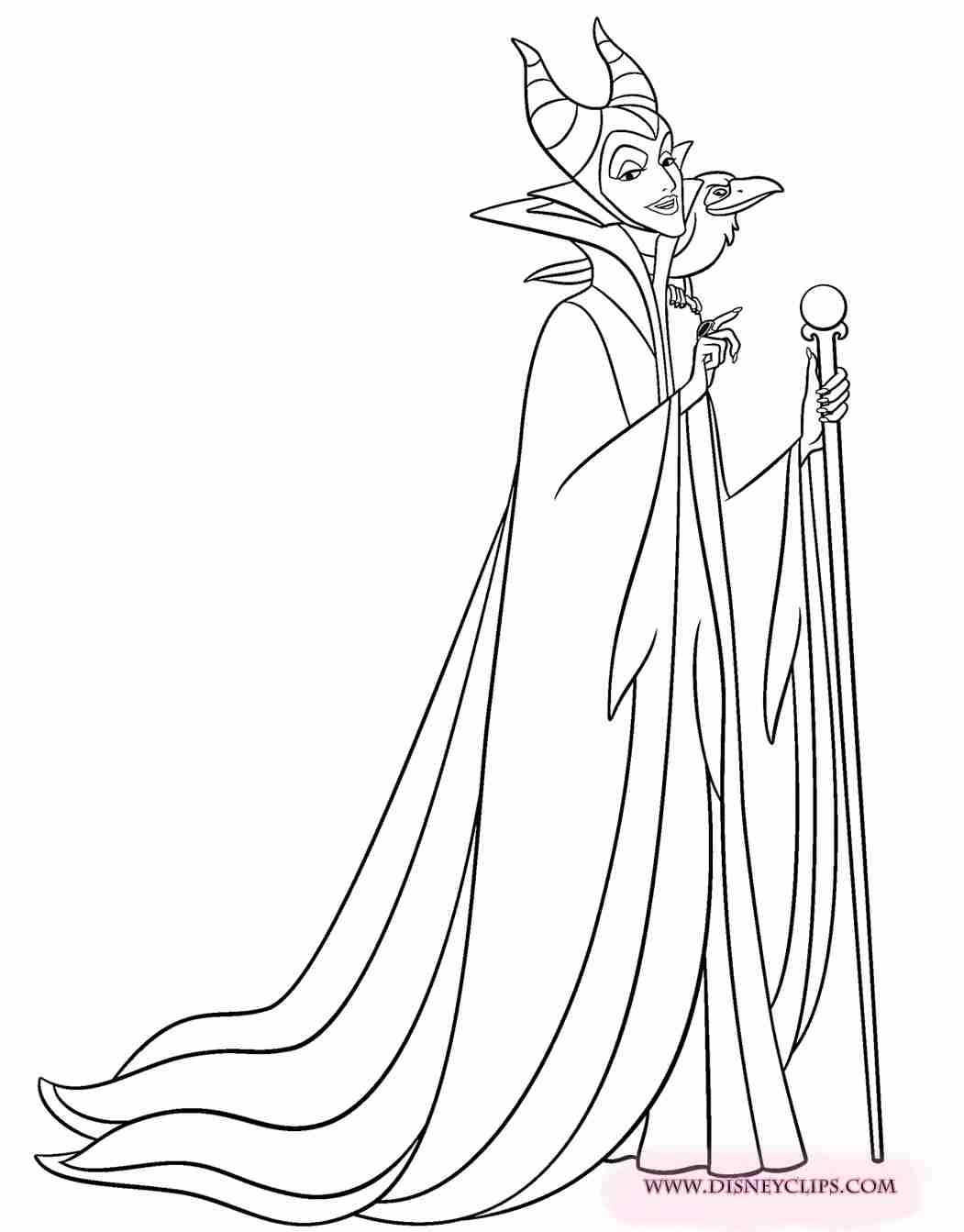 Maleficent Coloring Page at GetDrawings com | Free for
