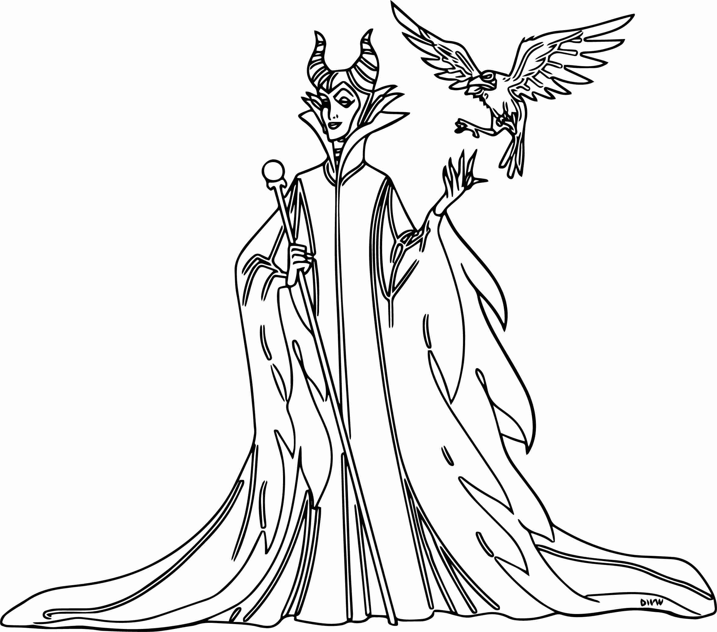 2351x2074 Maleficent Coloring Pages