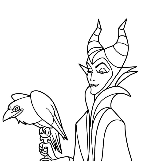 600x694 Maleficent Coloring Pages Color Luna