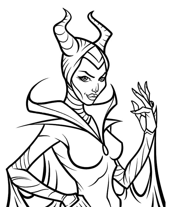 600x725 Angelina Jolie Maleficent Coloring Pages Color Luna