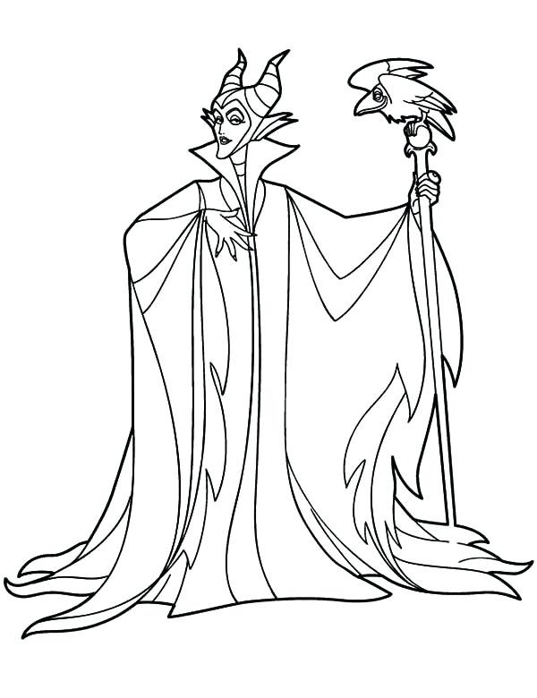 600x780 Maleficent Printable Coloring Pages Color Maleficent Printable