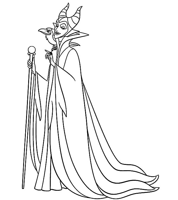 600x672 Maleficent Setting For Scheming Coloring Pages Color Luna