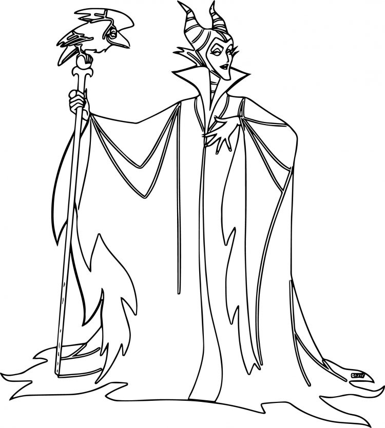 750x835 Coloring Maleficent Coloring Pages Free Plus Sleeping Beauty