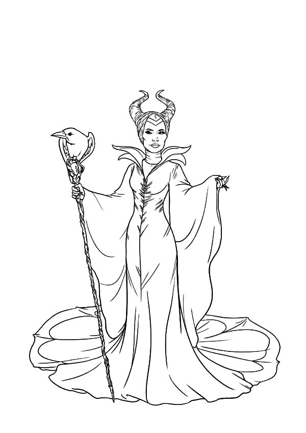 600x849 The Evil Maleficent Coloring Pages Color Luna