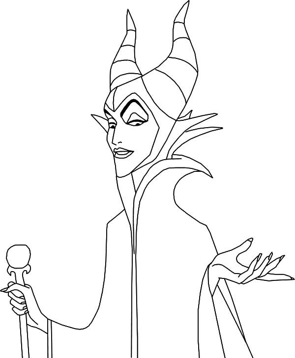 600x729 The Queen Of The Moors Maleficent Coloring Pages Color Luna