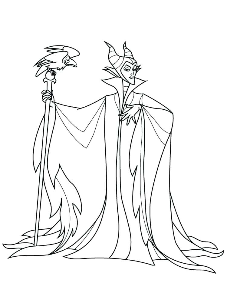 750x1000 Maleficent Coloring Pages