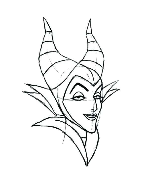 600x776 Maleficent Coloring Pages