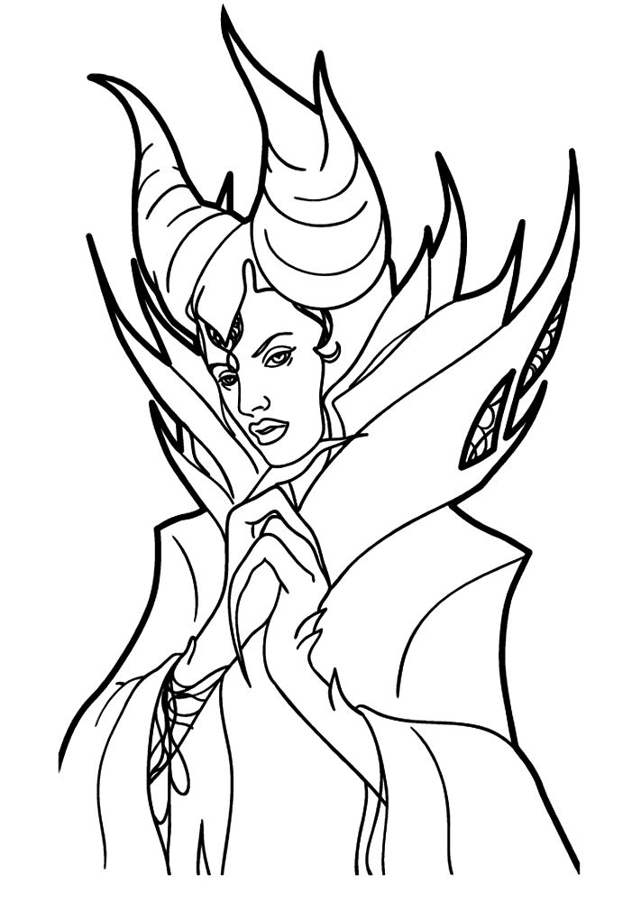 711x1000 Coloring Page Maleficent Maleficent On Kids N On Kids N
