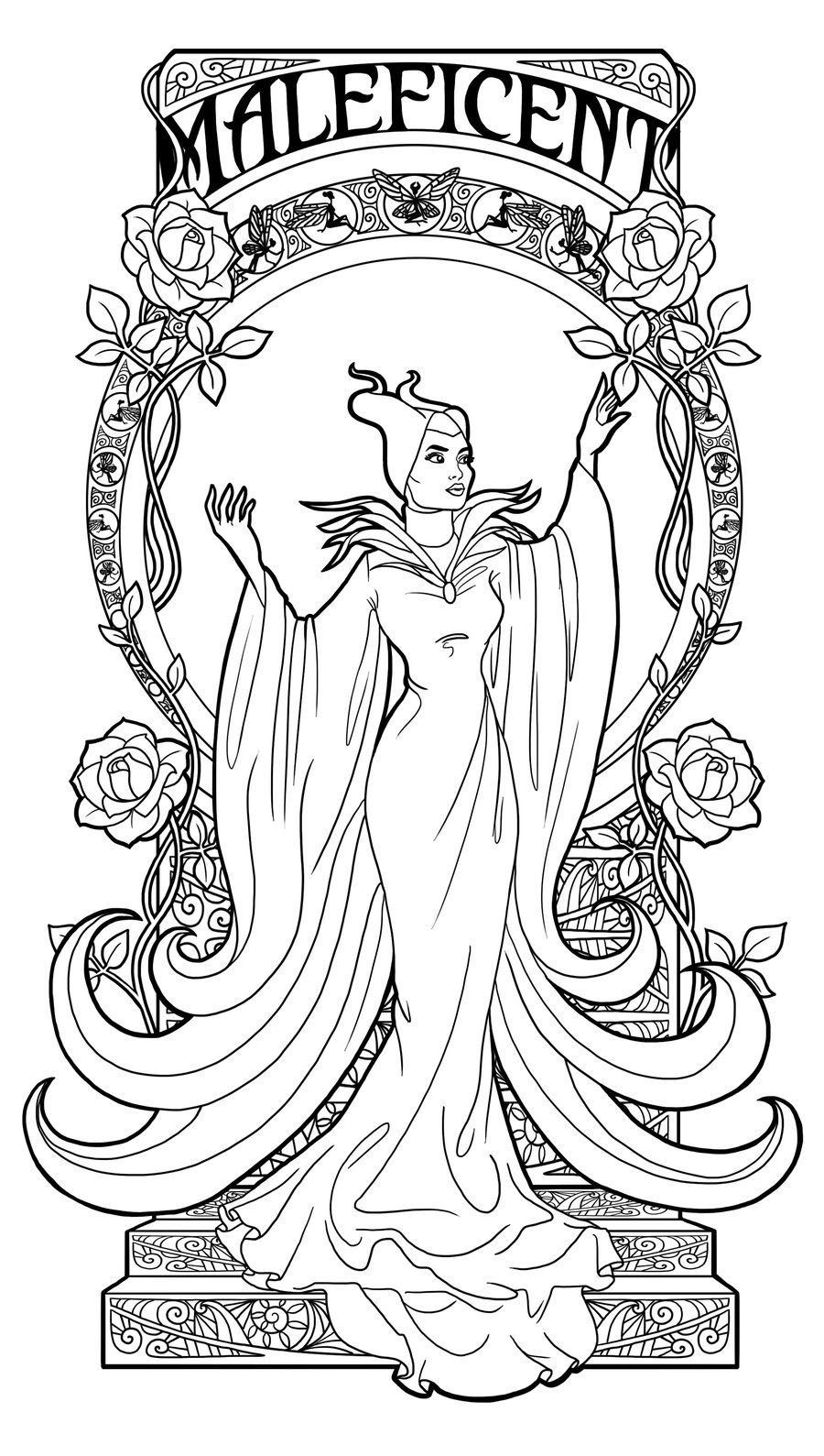 900x1589 Maleficent Coloring Pages