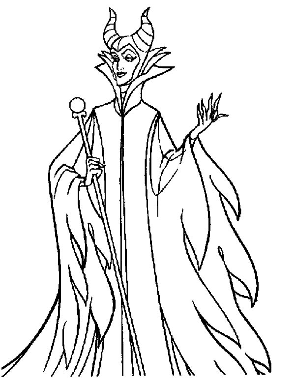 600x783 Maleficent Coloring Pages Discover All