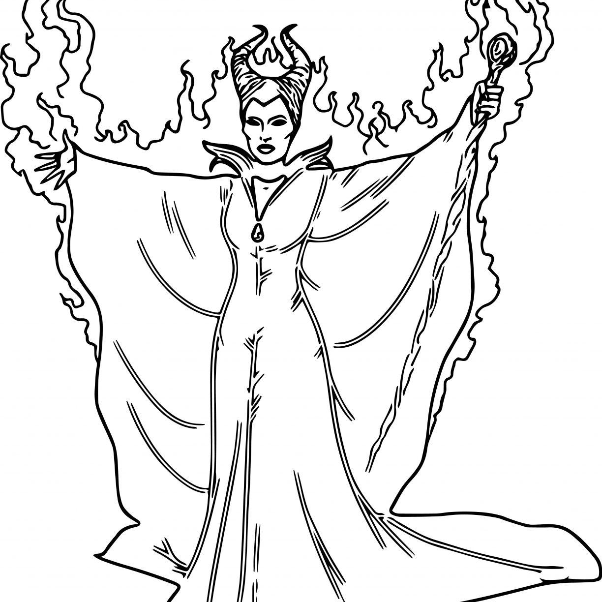 1224x1224 Maleficent Diablo Coloring Page Pages General Wings Sleeping