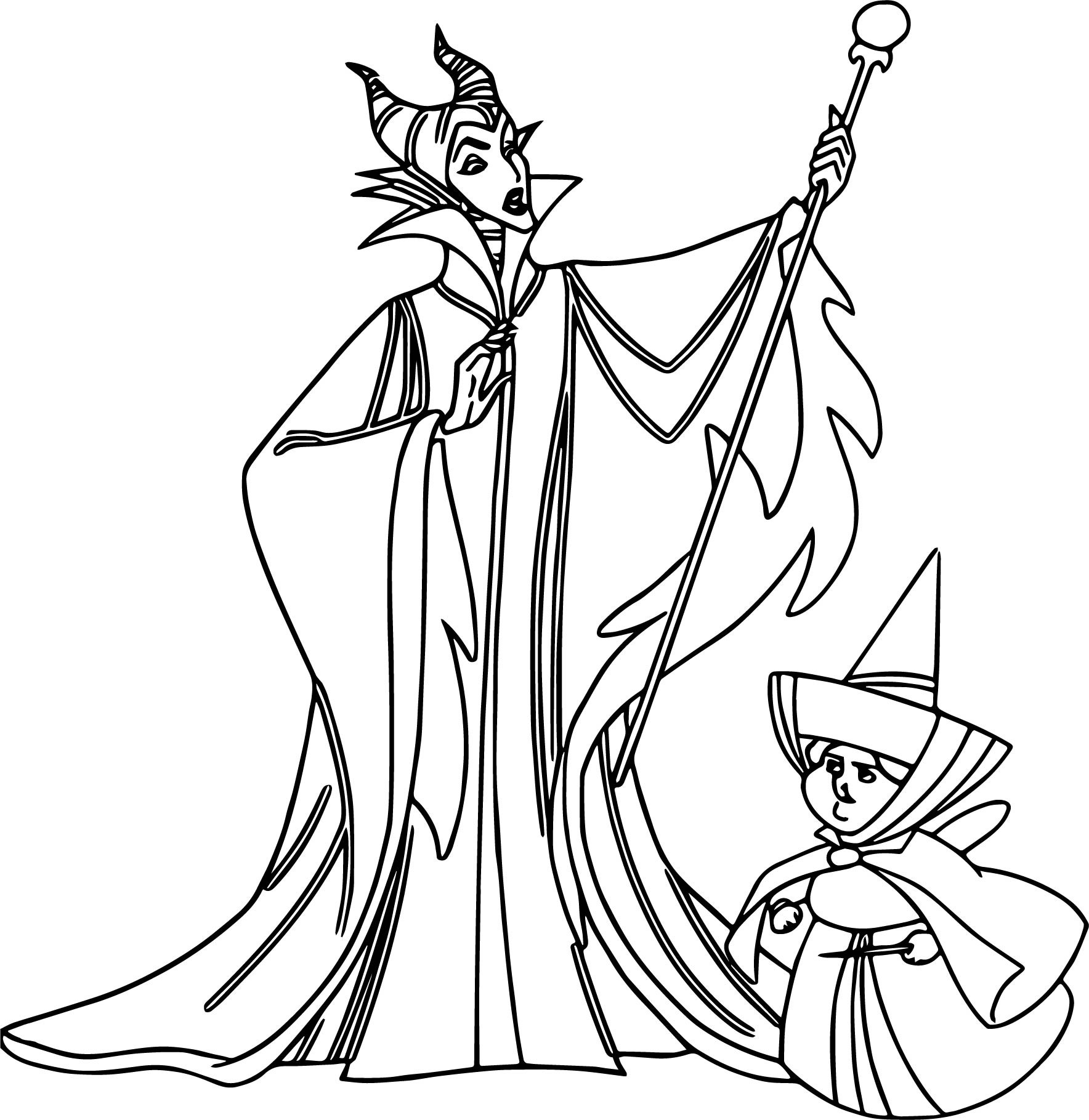 1768x1819 Maleficent Dragon Castle Cartoon Coloring Page Wecoloringpage Fine