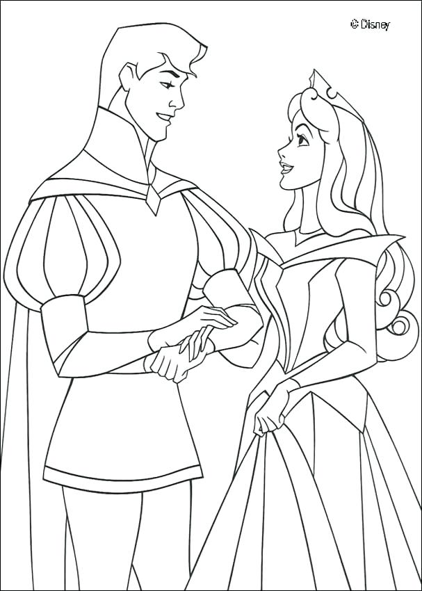 607x850 Sleeping Beauty Coloring Pages Maleficent With Cane Princess