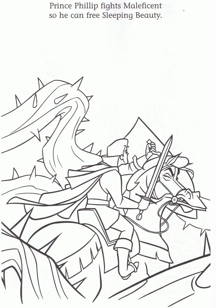 736x1048 Sleeping Beauty Dragon Coloring Pages