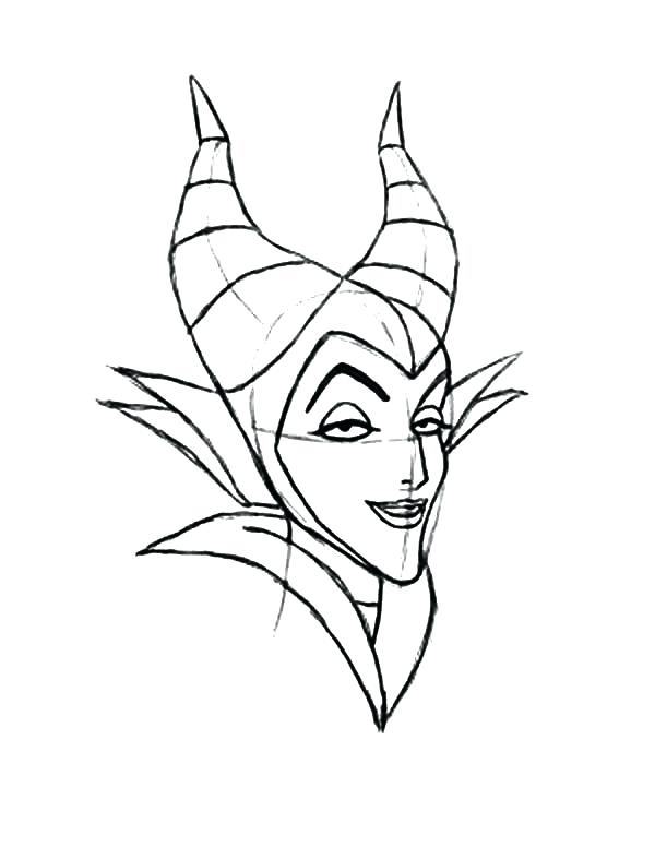 600x776 Disney Villain Coloring Pages How To Draw Maleficent Coloring