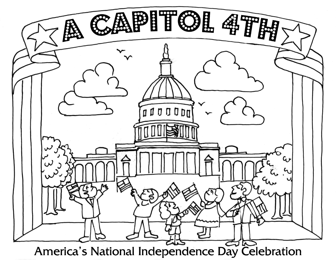 1180x912 Fourth Of July Coloring Pages A Capitol Fourth Pbs