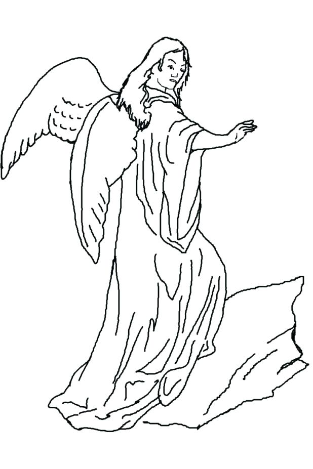 618x927 Guardian Angel Coloring Pages Angel Coloring Page Guardian Angel
