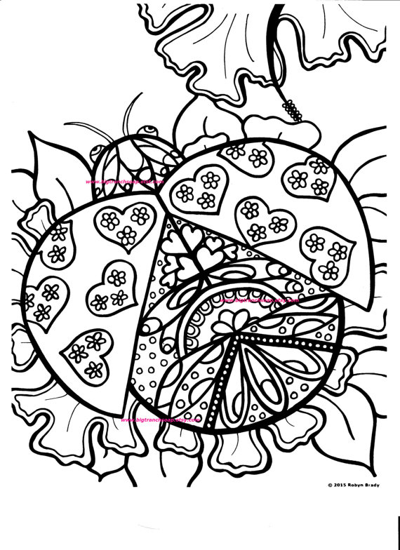 570x784 Coloring Page For Grown Ups