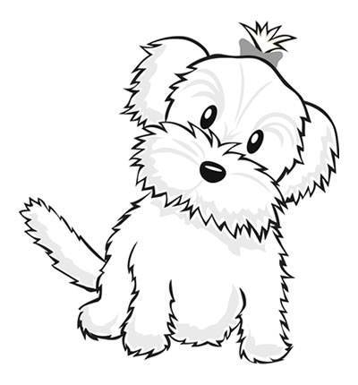 400x430 Maltese Dog Coloring Pages Dog Color Pages Printable Cute Dog