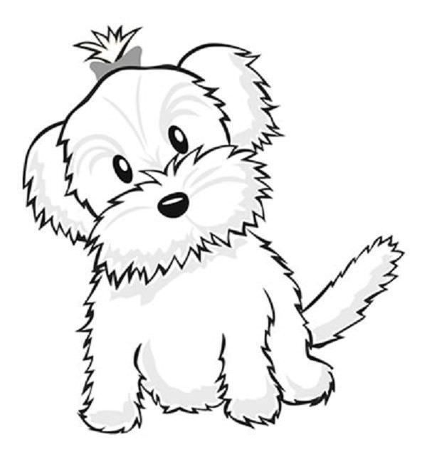 600x645 Maltese Puppy Coloring Pages
