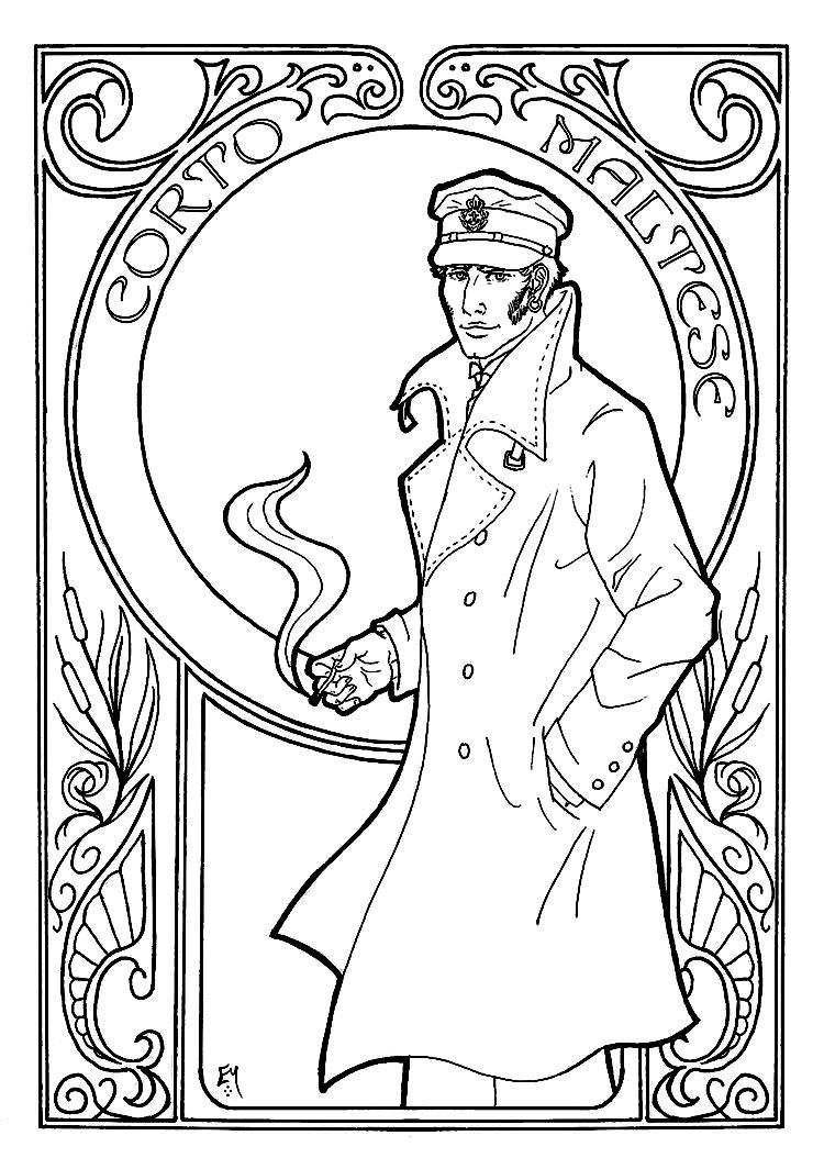 750x1064 Corto Maltese Art Nouveau