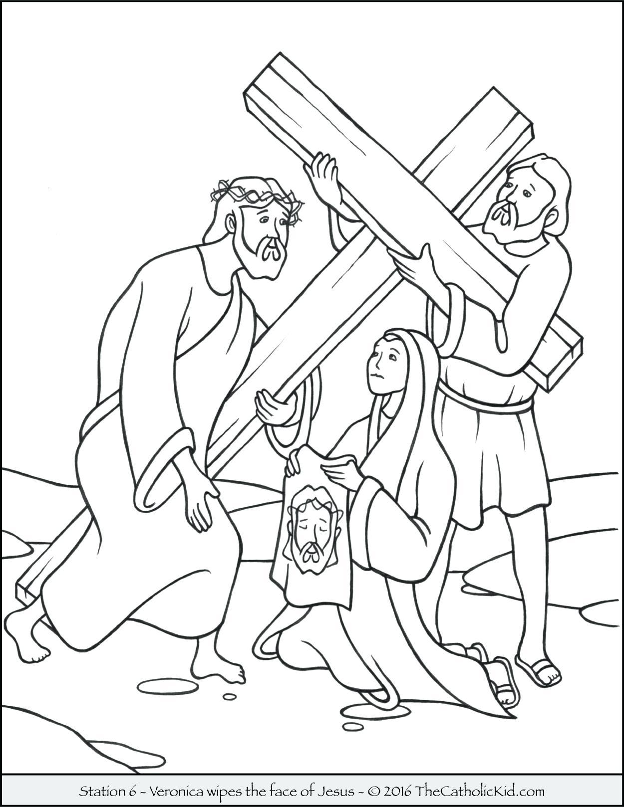 1250x1618 Unbelievable Stations Of The Cross Coloring Pages Meets His Mother