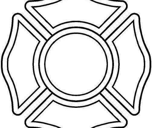 503x425 Fire Department Maltese Cross Coloring Page Firefighter Maltese