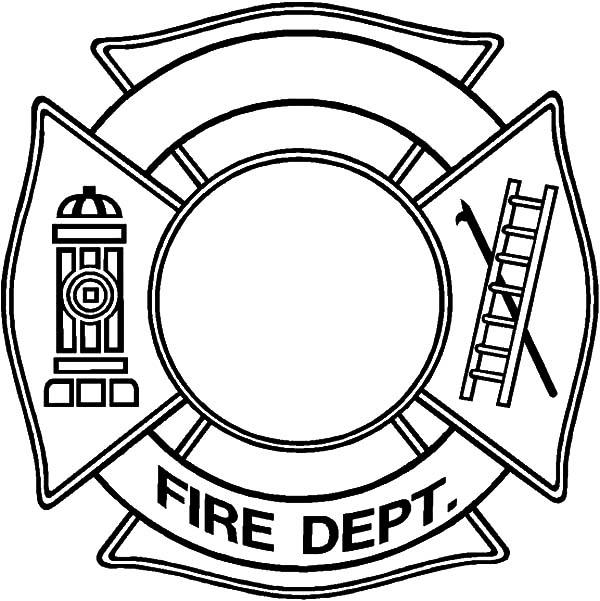 600x601 Fire Dept Maltese Cross Coloring Pages Coloring