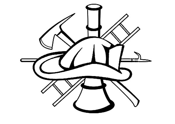 600x427 Fire Fighter Equipment Maltese Cross Coloring Pages Batch Coloring