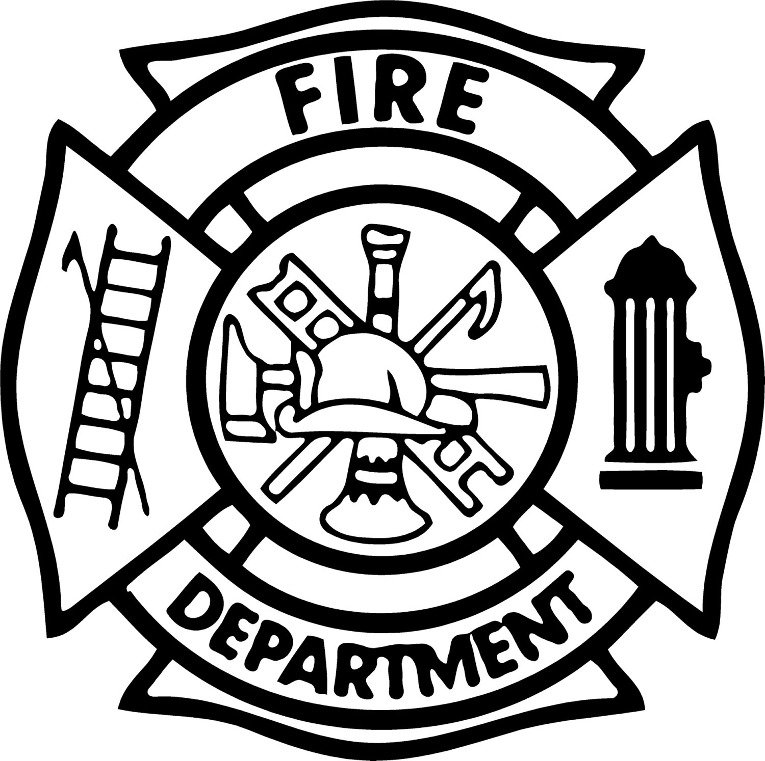 1500x1494 Fine Firefighter Badges Coloring Pages Crest