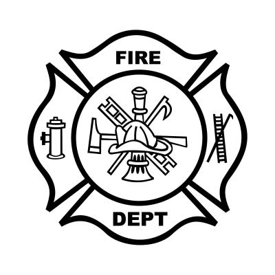 400x400 Fire Department Badge Coloring Page Fire Safty