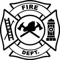 236x236 Fire Department Maltese Cross Coloring Page